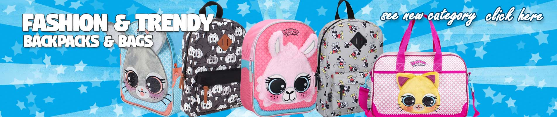 FASHION BACKPACKS AND BAGS FOR KIDS WHOLESALE