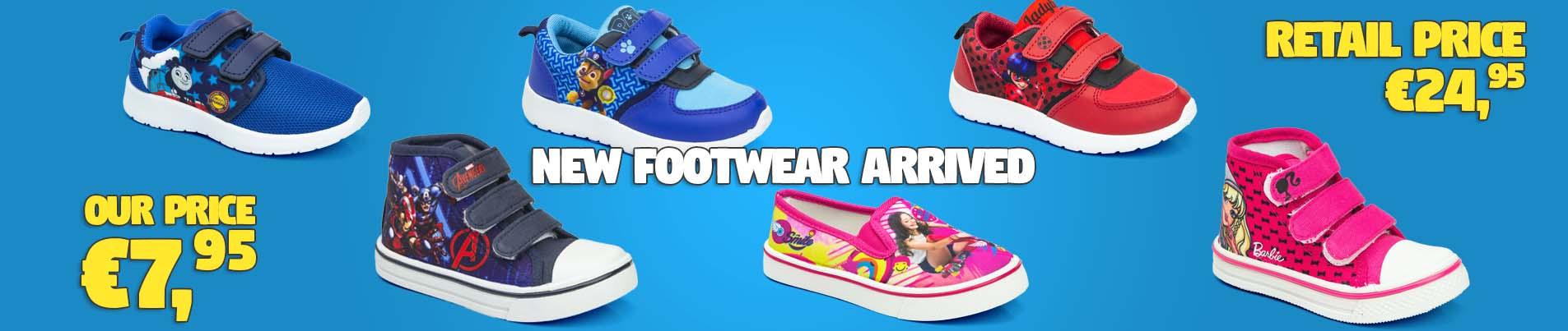 Wholesale footwear for kids.